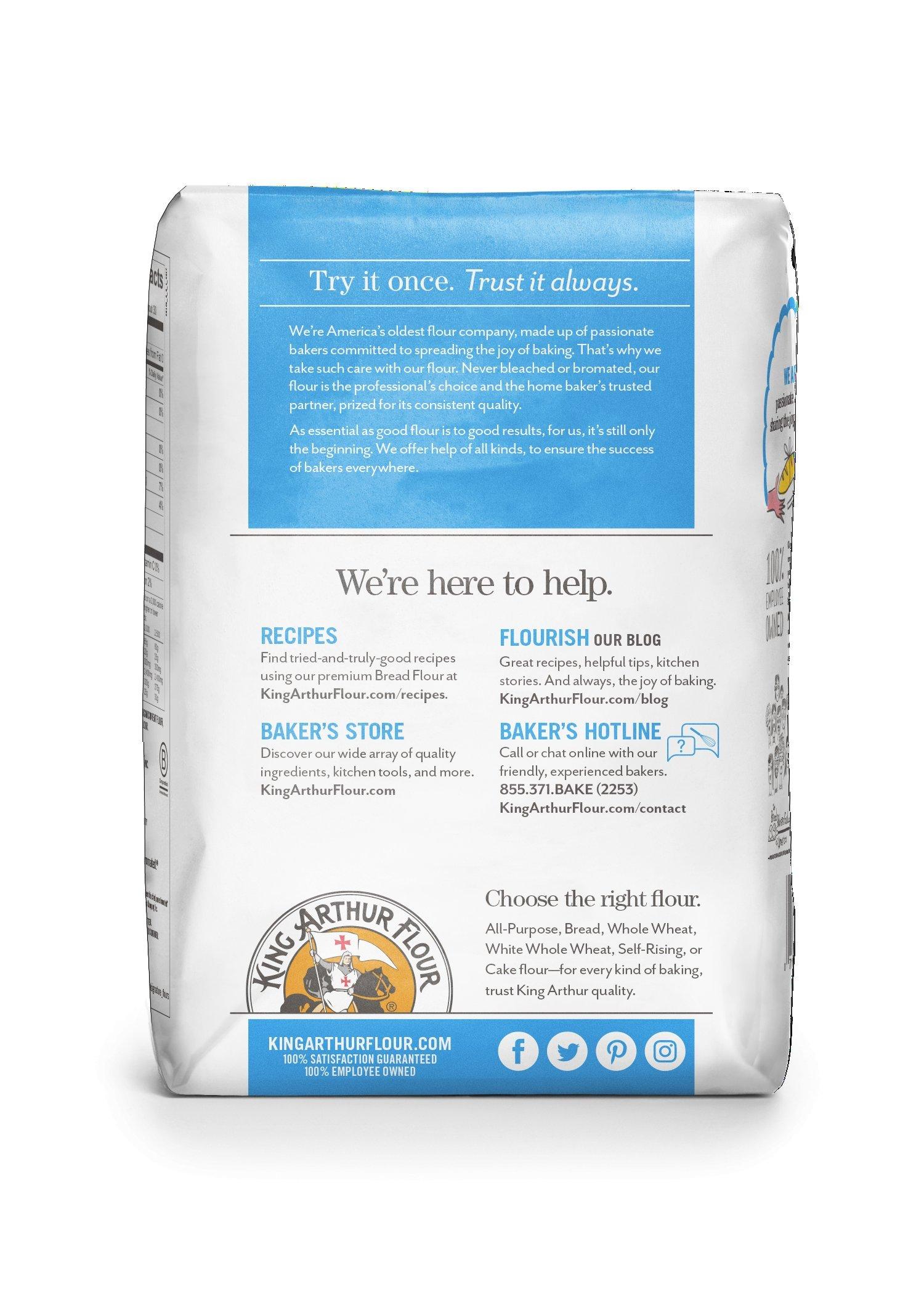 King Arthur Flour 100% Organic Bread Flour , 2 Pound (Pack of 12) by King Arthur Flour (Image #3)