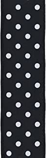 product image for Offray, Black Wired Edge Polka Dot Craft Ribbon, 1 1/2-Inch x 9-Feet