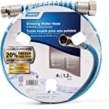 "Camco 22813 4ft Premium Drinking Water Hose - Lead and BPA Free, Anti-Kink Design, 20% Thicker Than Standard Hoses 5/8"" Inside Diameter, 4 Feet, Blue"