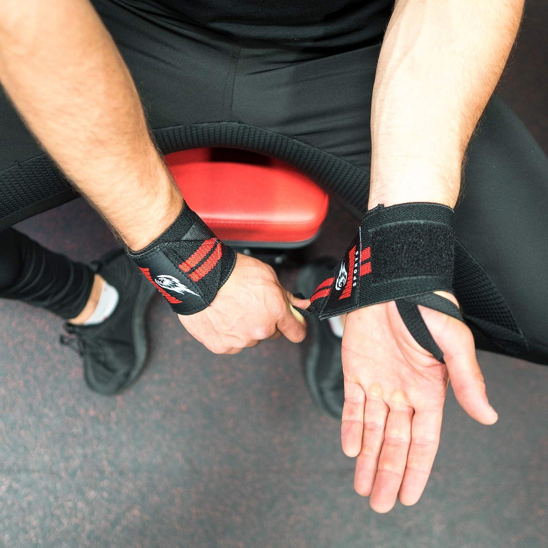 Wrist Wraps 30 cm Powerlifting Handgelenkbandage Bandagen f/ür Kraftsport CrossFit /& Fitness 2er Set Bodybuilding F/ür Frauen /& M/änner geeignet Handsch/ützer von Armageddon Sports