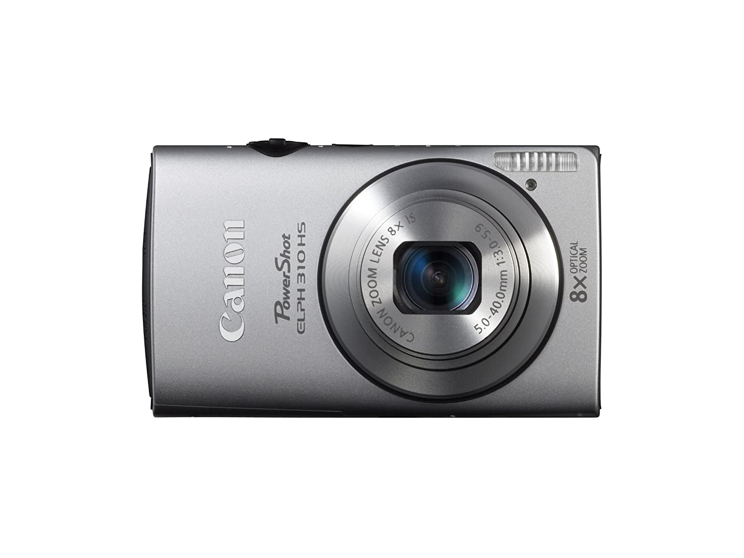 Amazon.com : Canon PowerShot ELPH 310 HS 12.1 MP CMOS Digital Camera with  8x Wide-Angle Optical Zoom Lens and Full 1080p HD Video (Silver) : Point  And Shoot ...