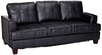 Coaster Samuel Transitional Sleeper Sofa, Black