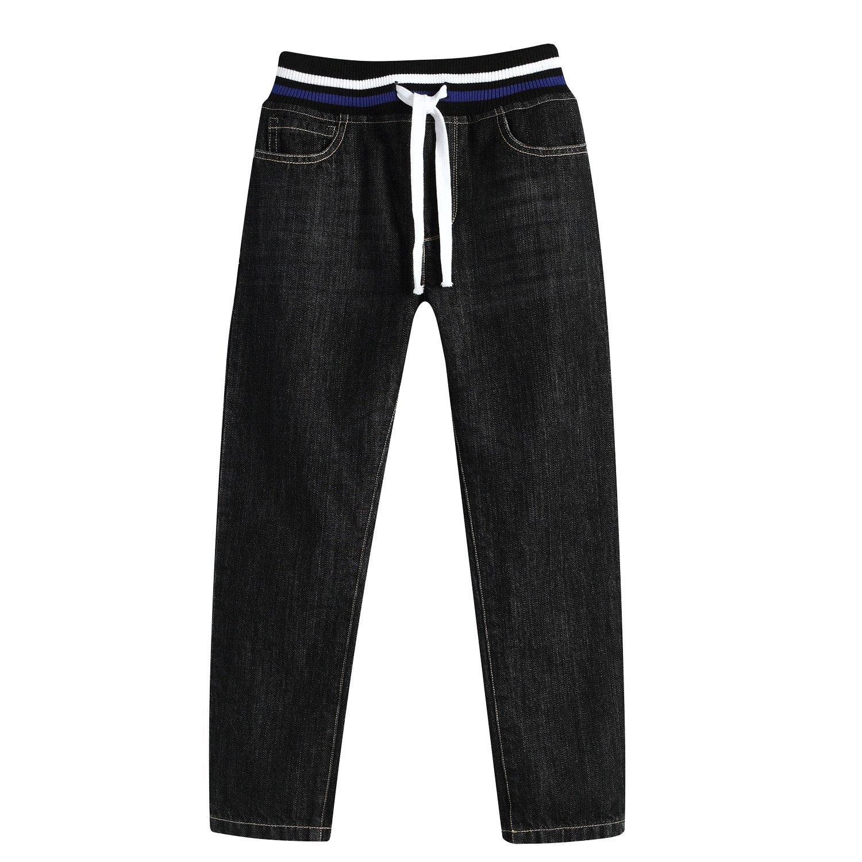 Leo&Lily Big boys'Husky Whole Rib Waist Fine Denim Black Jeans (16) by Leo&Lily (Image #8)