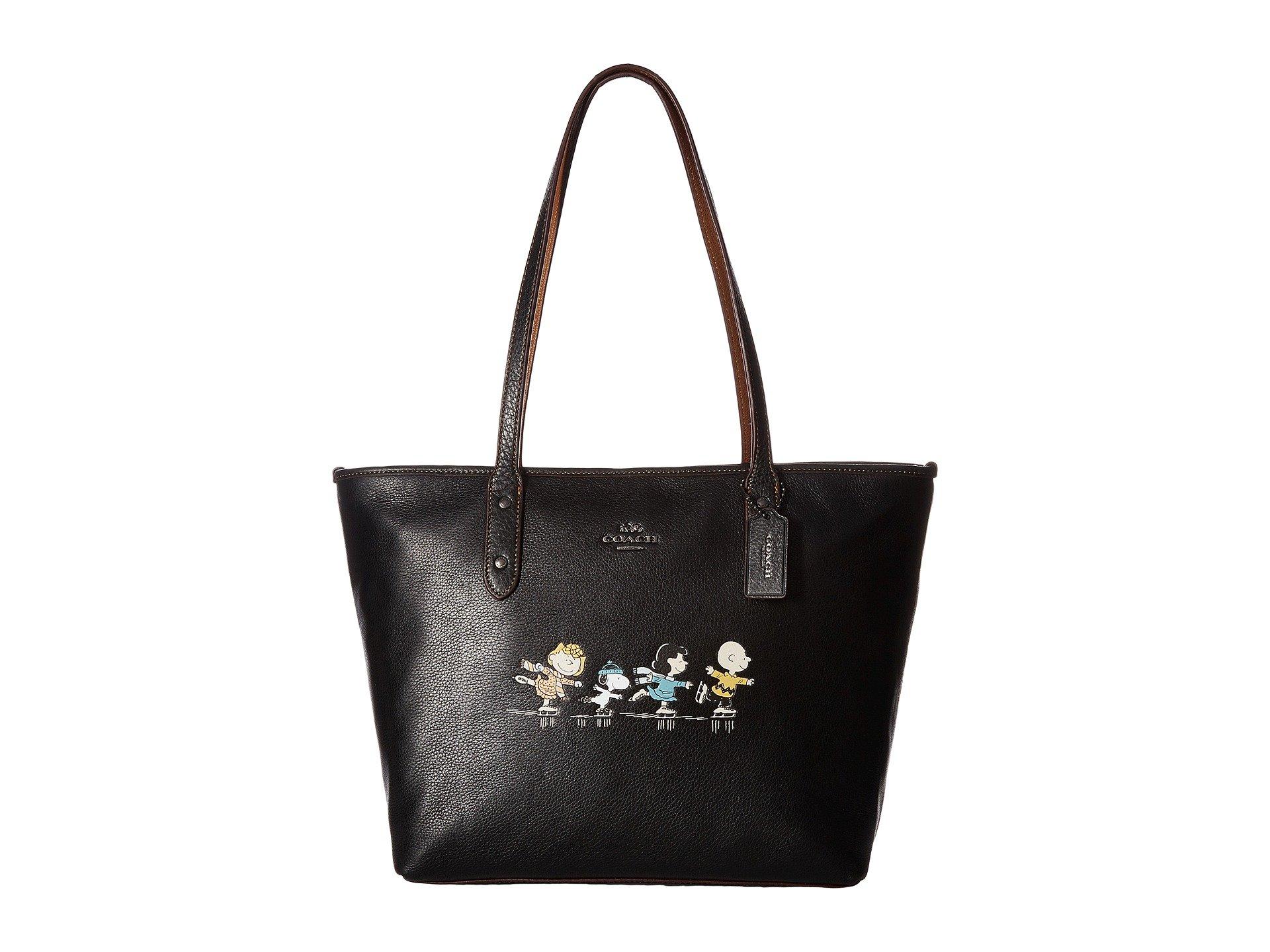 COACH Women's Snoopy City Zip Tote Qb/Black One Size