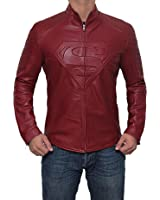 Men's Superman Jackets Smallville Leather Costume Red