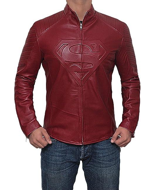 Decrum Hombre chaquetas de Superman Smallville piel disfraz ...
