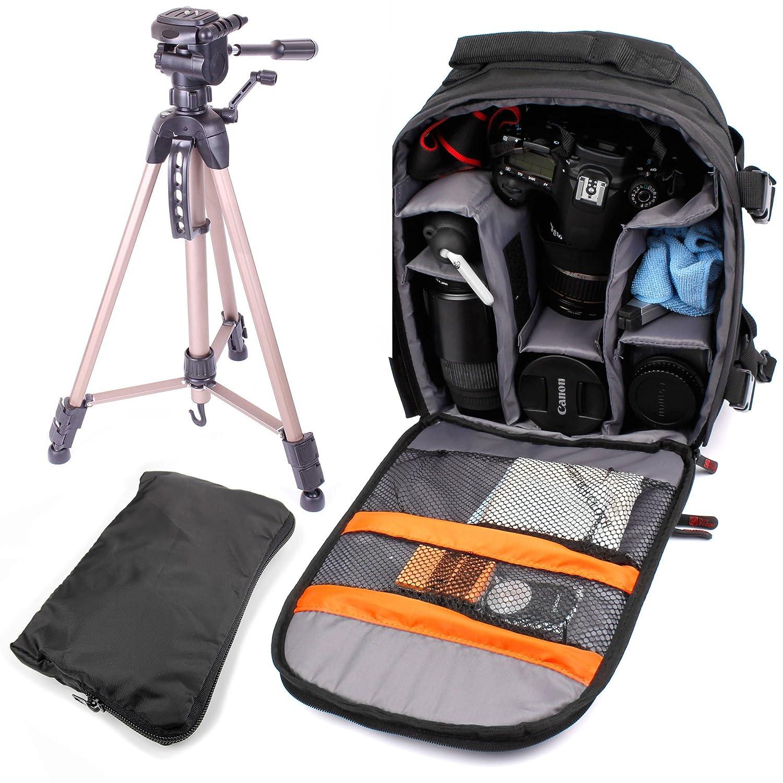 DURAGADGETプロフェッショナルSLRカメラキットComprisingのハードWearingリュックサック&軽量三脚Suitable forデバイスなどすべてのGoPro HD Hero 1、2、3、3 + B00L44LZW8