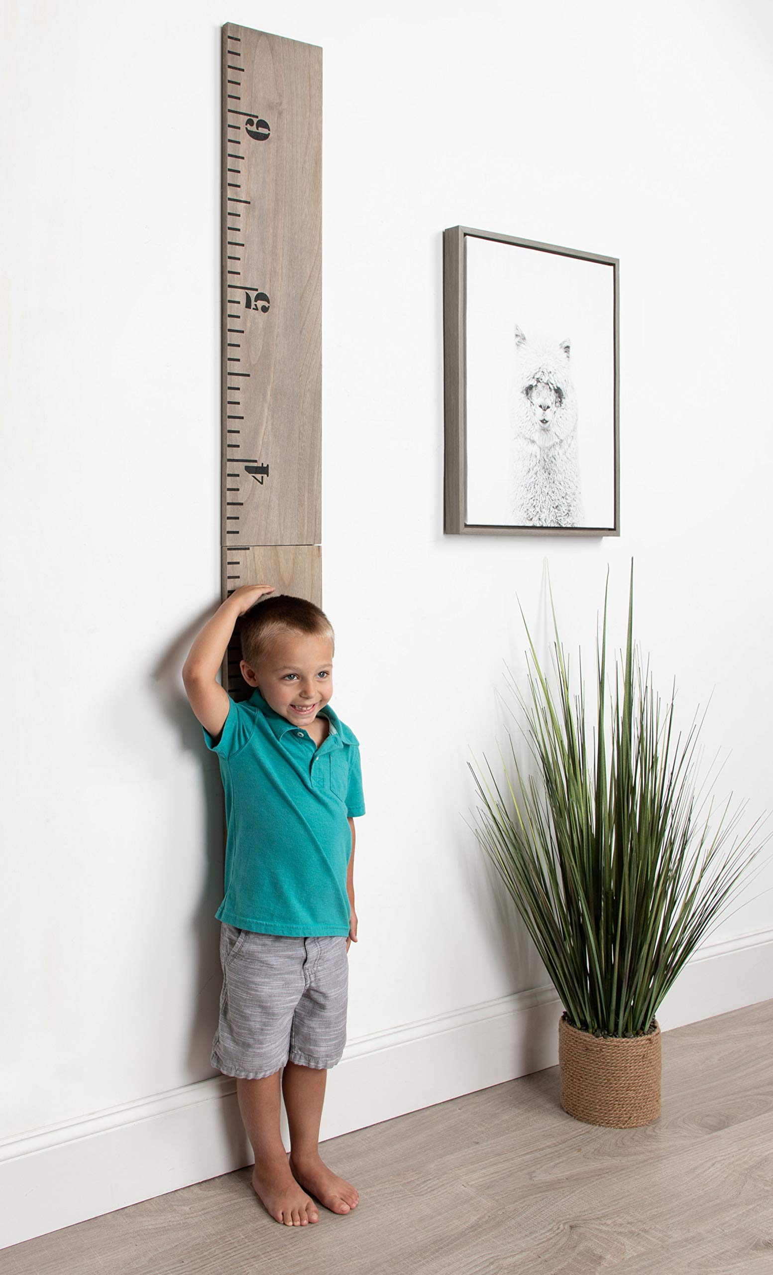 Kate and Laurel Growth Chart 6.5' Wood Wall Ruler, Gray by Kate and Laurel (Image #6)