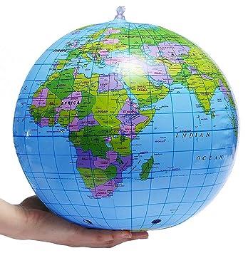 Globo inflable - Bola de playa mundial 30 cm - Juegos al ...