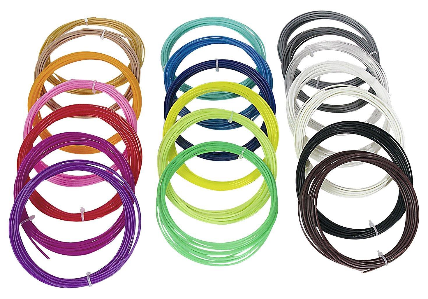 Tutti3D Recambios de filamento de pluma 3D, ABS de 1,75 mm, 100 ...