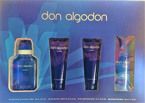 Don Algodón. Set Hombre. Edt 100 Ml Vapo + Gel De Baño + Desodorante + After Shave: Amazon.es: Belleza