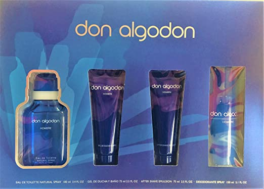 Don Algodón. Set Hombre. Edt 100 Ml Vapo + Gel De Baño + Desodorante + After Shave: Amazon.es: Belleza