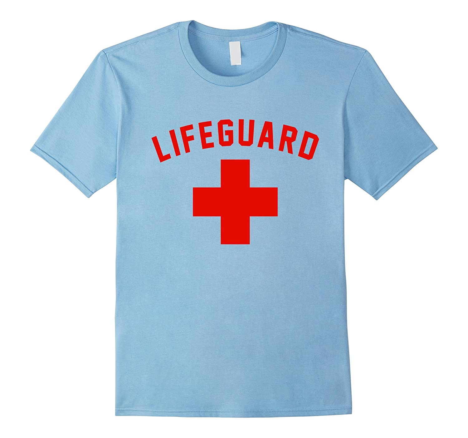 Lifeguard Red & White Certified Swimming Pool Cross T Shirt-FL