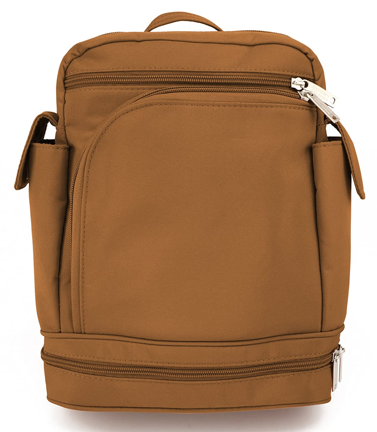 ce69c88a486c Be Safe Bags Anti-Theft Convertible Backpack (Medium, Camel)
