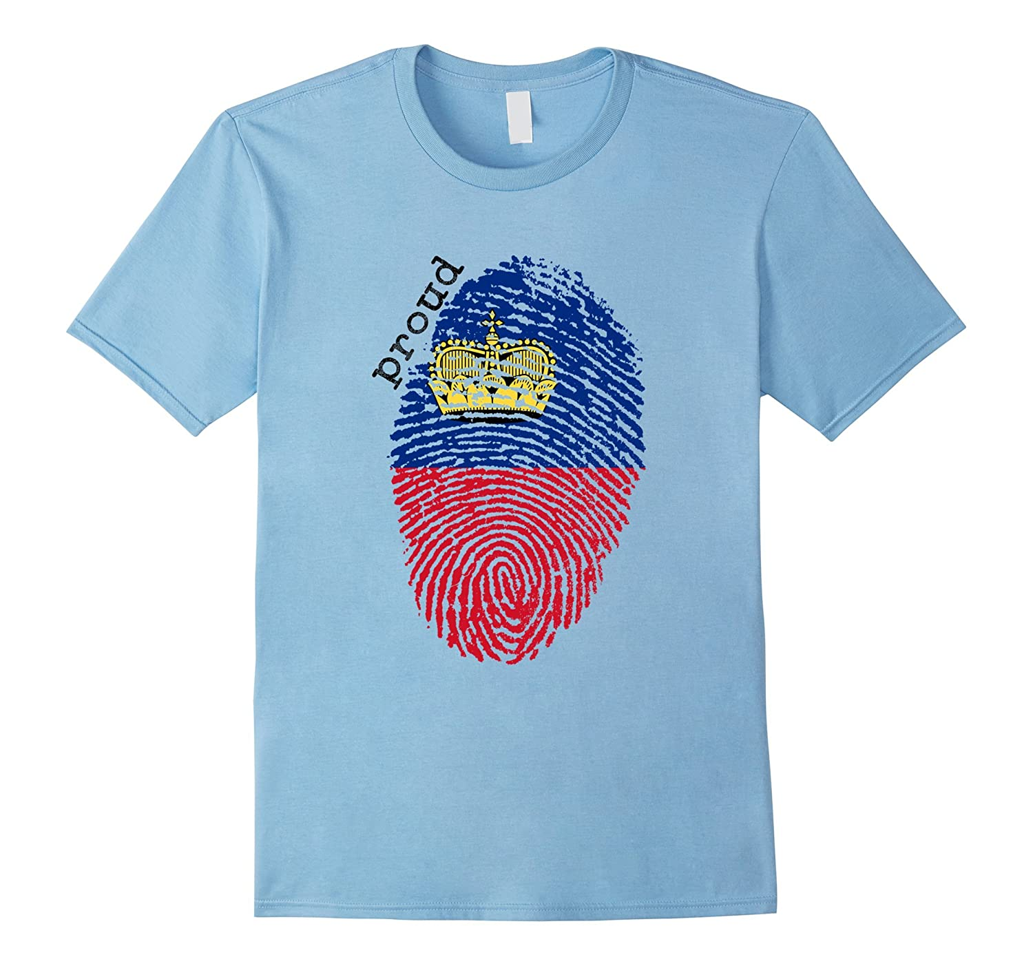 Liechtenstein flag t-shirt - Liechtenstein National Flag-TD