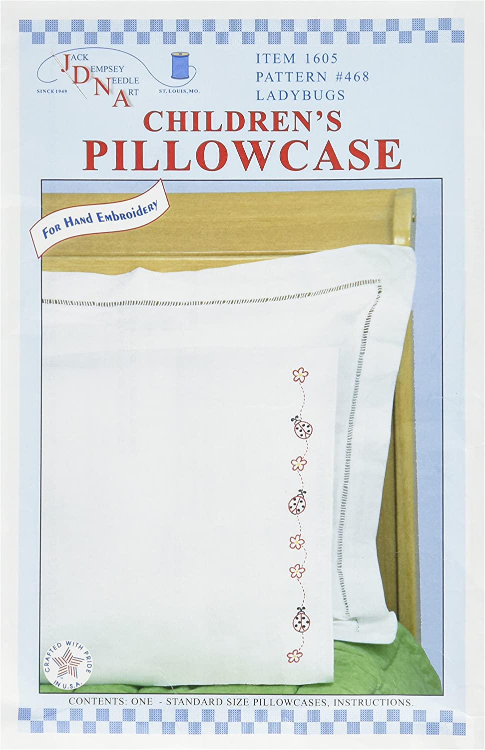 Jack Dempsey Childrens Stamped Pillowcase with White Perle Edge 1//Pkg-Old Truck Friend