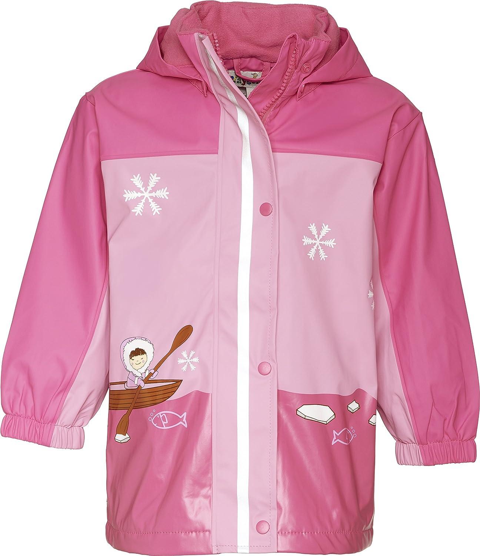 Playshoes 408595-18 Rosa-Pink, Tela cerata da bambine e ragazze, manica lunga, collo con cappuccio Playshoes GmbH 408595-18 Playshoes rosa-pink