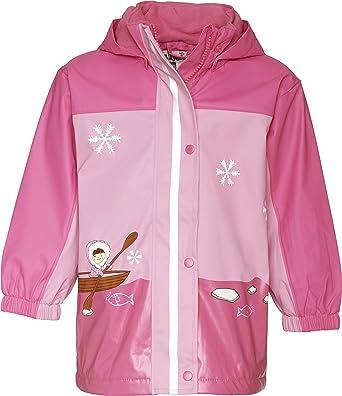 dc4ed7e71 Playshoes Baby Girl s Rain Coat with Fleece Lining  Amazon.co.uk ...
