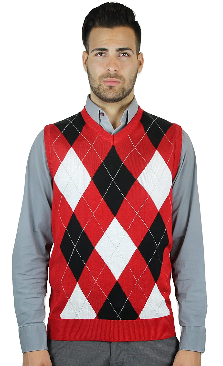 Blue Ocean Argyle Sweater Vest at Amazon Men's Clothing store: