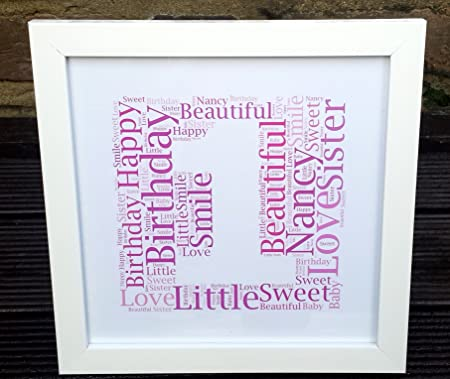 MadeAt94 1st Birthday Gift Frame Personalised Niece Nephew Son Daughter FIRST Amazoncouk Kitchen Home