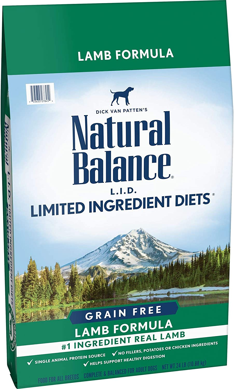 Natural Balance L.I.D. Limited Ingredient Diets Dry Dog Food, Lamb Formula, 24 Pounds, Grain Free