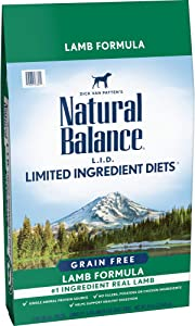 Natural Balance L.I.D. Limited Ingredient Diets Dry Dog Food, Lamb Formula, 24 Pounds, Grain Free