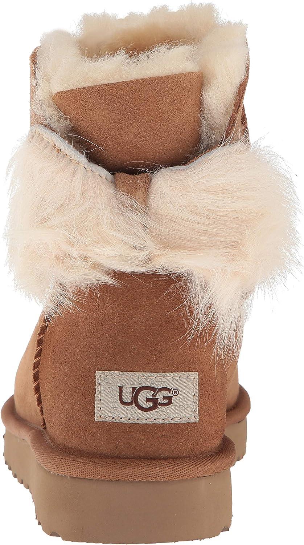 UGG W Fluff Bow Mini Suntan 1094967 W Noisette