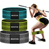 BERTER Resistance Bands for Legs and Butt, Workout Exercise Hip Bands, Fitness Booty Loop Non-Slip Bands for Squats, Deadlift