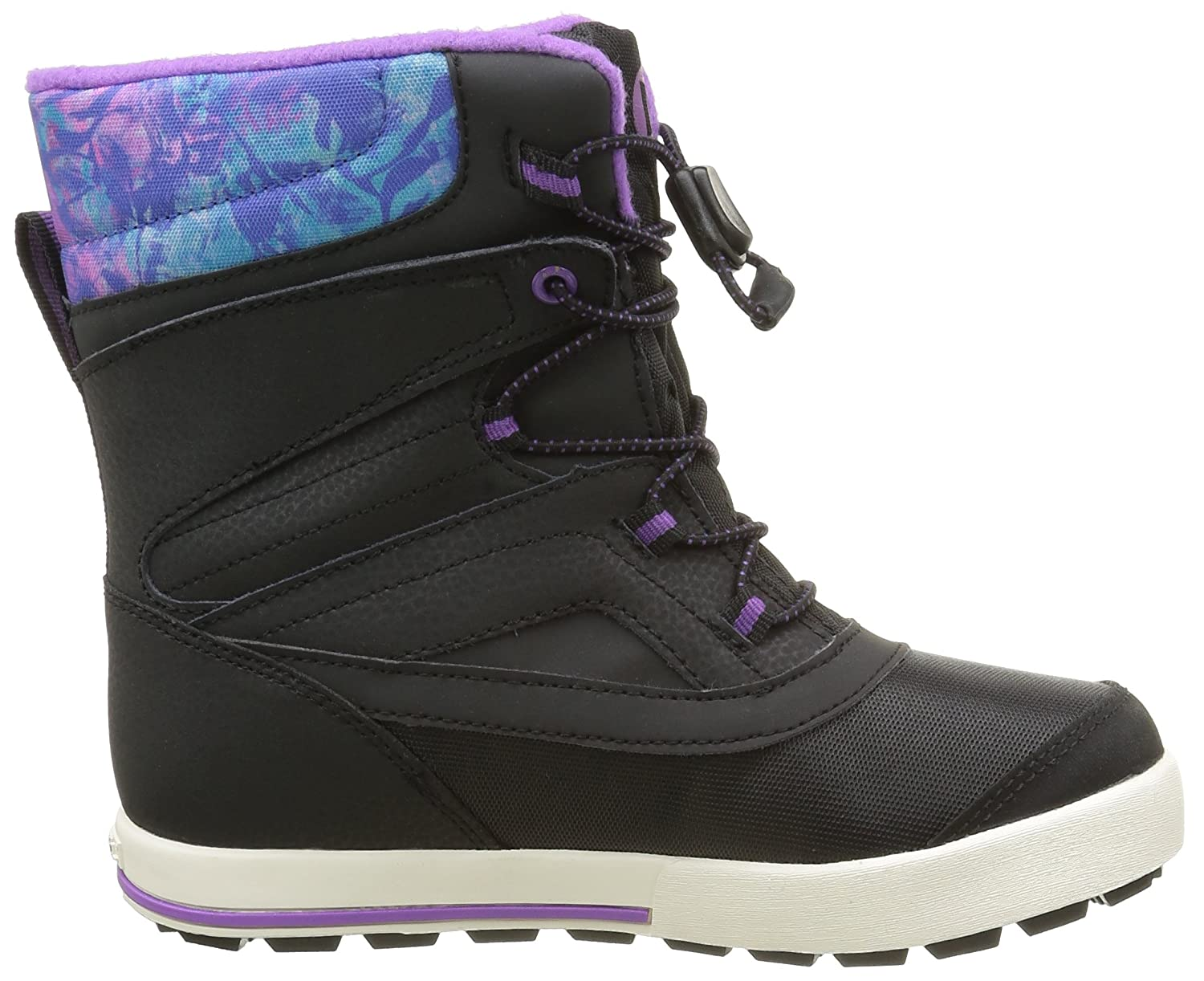 Merrell ML-Girls Snow Bank 2.0 WTRPF, Chaussures de Randonnée Hautes Fille, Violet (Black/Print/Berry), 3 UK