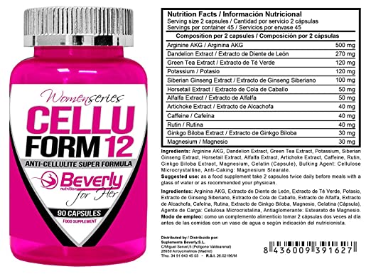 Amazon.com: Beverly Nutrition Exclusive For Absat40 Cellu Form - Has Mineral Components, Anti-Cellulite Super Formula Amino Acids And Herbal Extracts ...