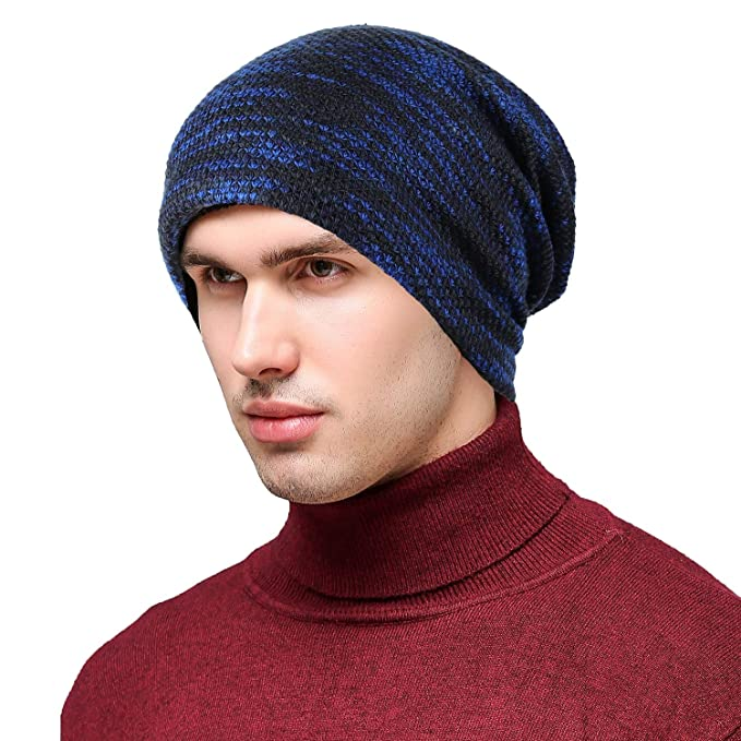 e1680a5a45b AVIGOR Slouchy Beanie Hat Scarf Set Winter Soft Warm Hats Knit Thick Skull  Cap for Men