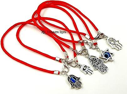"10 Red String Evil Eye Hamsa Hand /""Star of David/"" Charms Good Luck Bracelets"