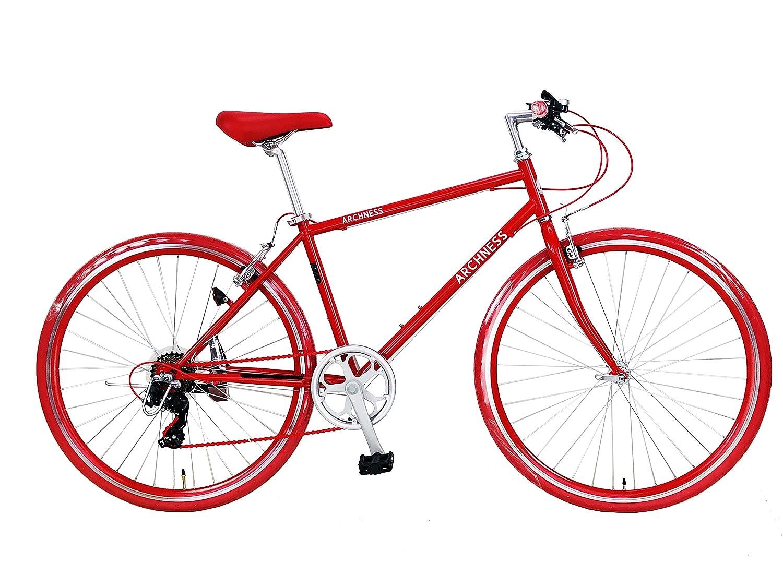 ARCHNESS 7007-A 700C クロスバイク 7段変速 B06XWQBD5Mレッド