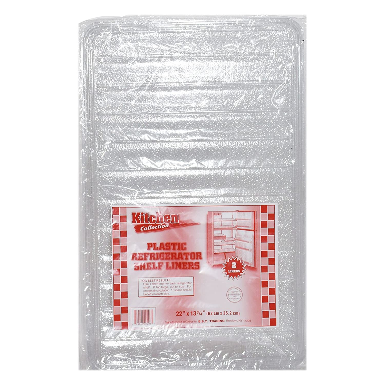 2 x plástico lado estante Liners, clara calidad plástico Nevera ...