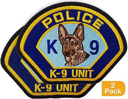 Canine Large Security Blue DOG HANDLER Reflective Badge for Police Officer