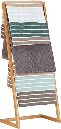 Relaxdays Toallero Escalera con 4 Barras, Bambú, Beige, 100 x 40 x 30 cm: Amazon.es: Hogar