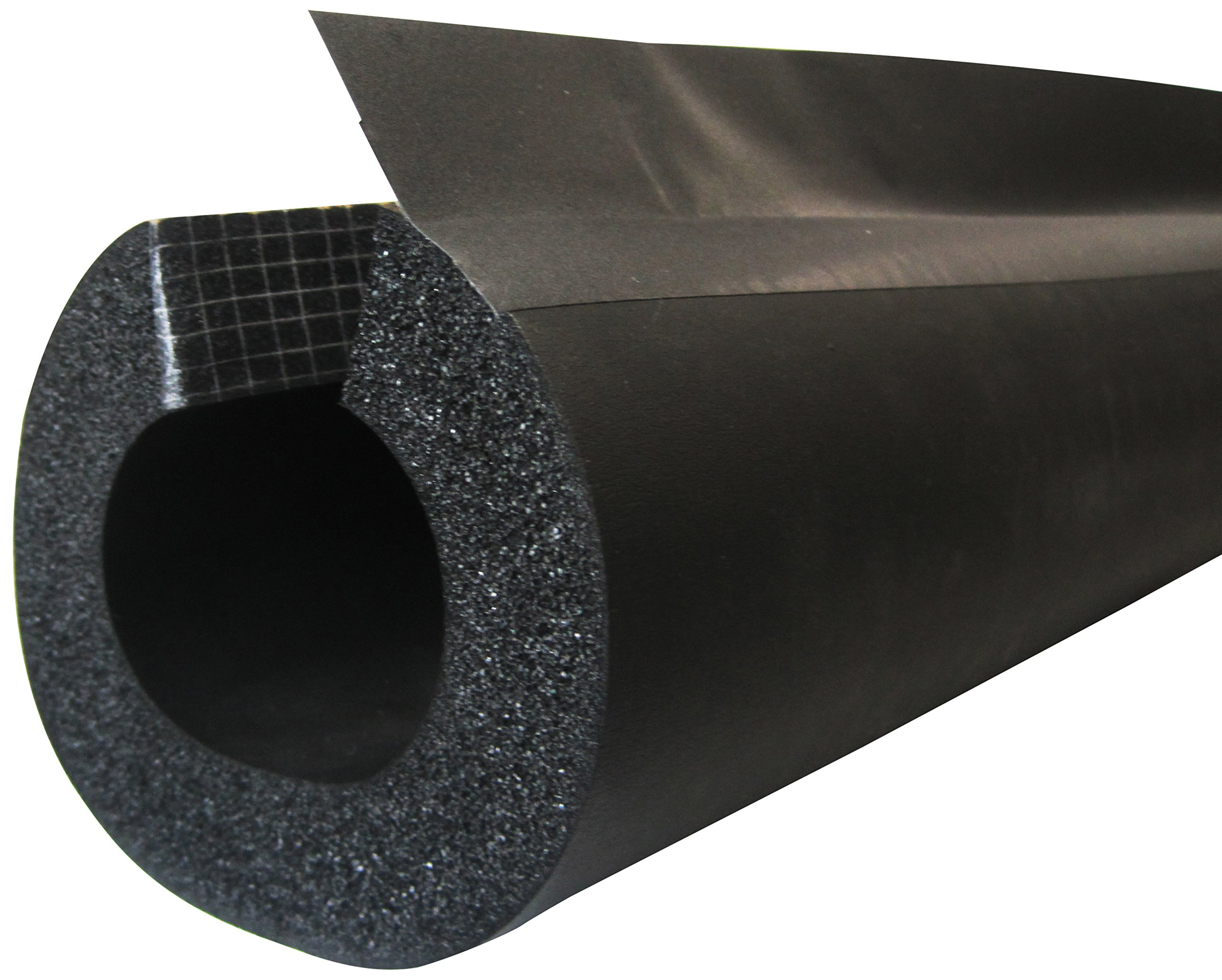 K-Flex 6RXLO100068 NBR/PVC Insul-Lock DS Tube with PVC Overlap Tape, 3/4'' Nominal Insulation ID, 6' Length, 1'' Wall Thickness, Black (Pack of 13)