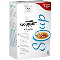Purina - Gourmet Crystal Soup Atun Natural y Gambas - Pack de 10 x [4x40 g] - Total 1600 gr