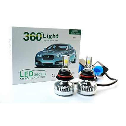 Amazon.com: JLM 360° 9007/hb5 Hi/Lo 8000K(IcebergBlue) LED Headlight Conversion Kit 70W (35Wx2) 6000lm combine output COB LED w/Heat Sink+Cooling Fan: ...