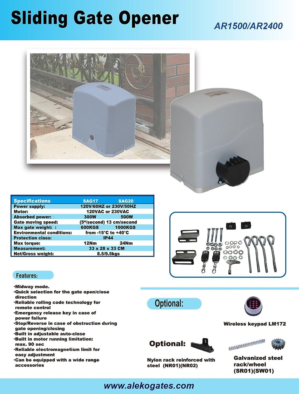 Aleko Motor Wiring Diagram - Residential Electrical Symbols •