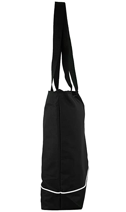 Amazon.com: Shoulder Tote Bag with Zipper, Black: Clothing