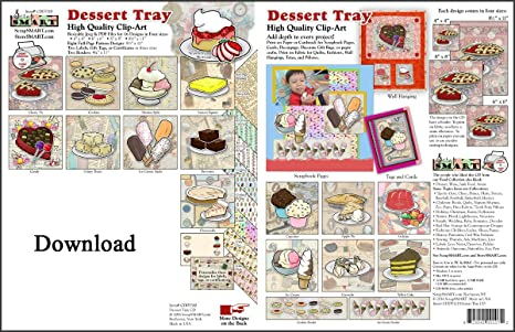 Amazon.com: ScrapSMART - Dessert Tray - Clip Art Software ...