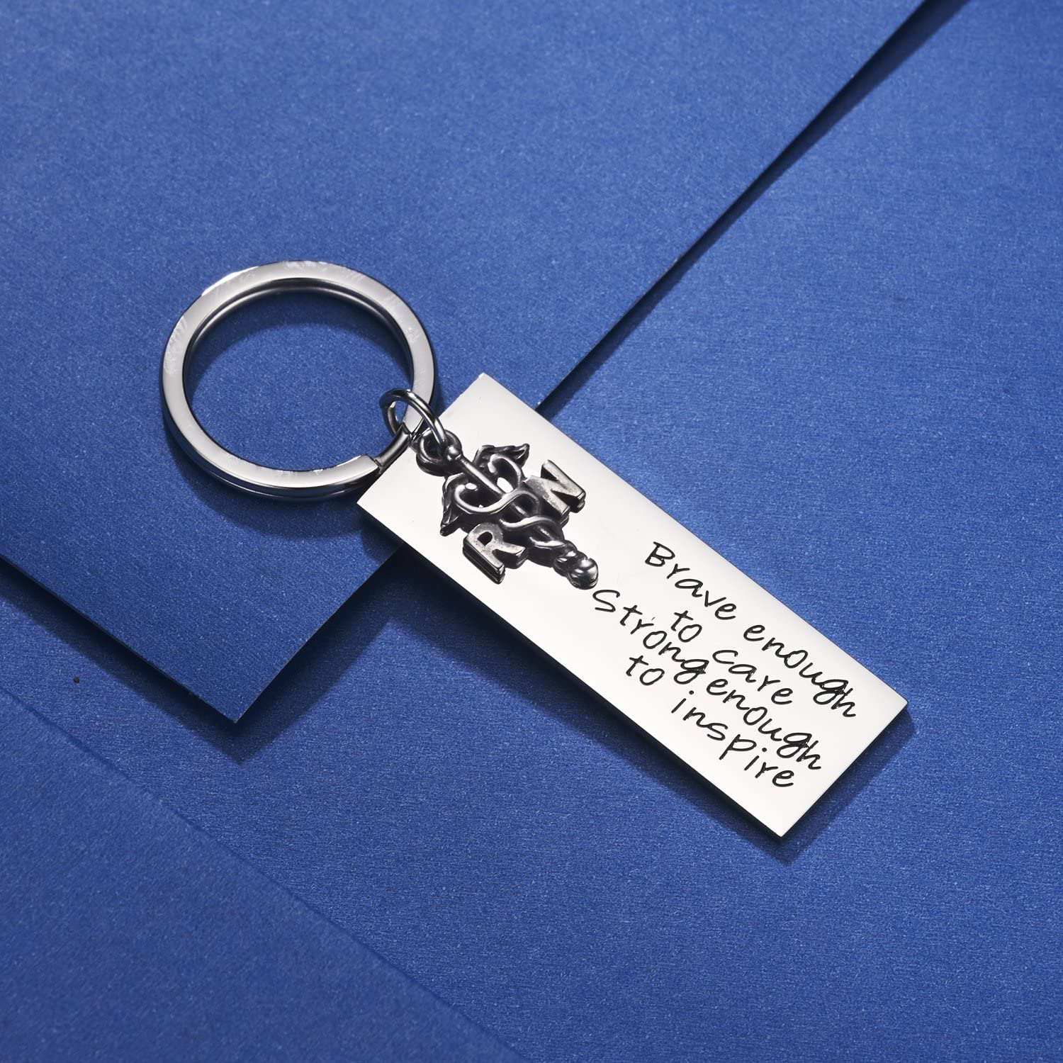 Engraved Gift RN LPN Details about  /Personalized NURSE Steel Keychain with Nurse/'s Prayer