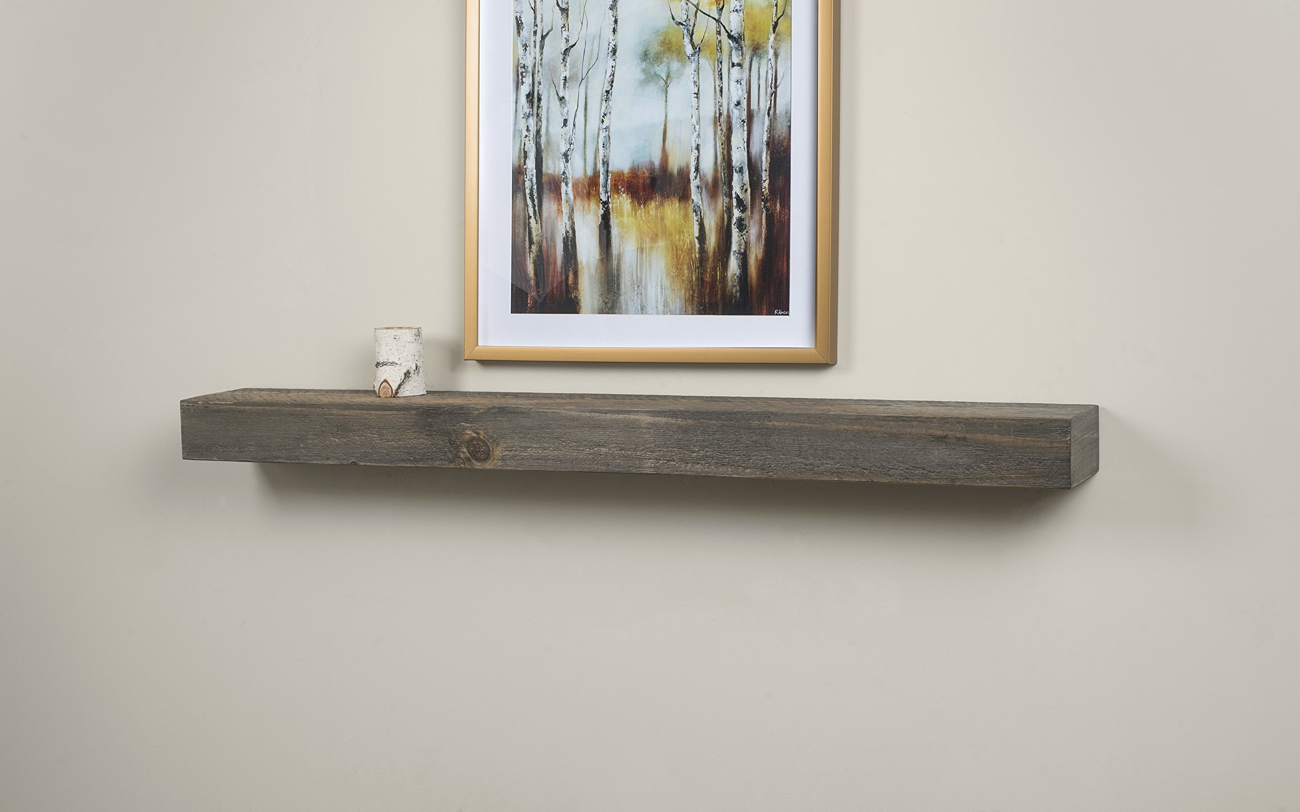Vail 60-Inch Wood Fireplace Mantel Shelf, Driftwood by Mantels Direct