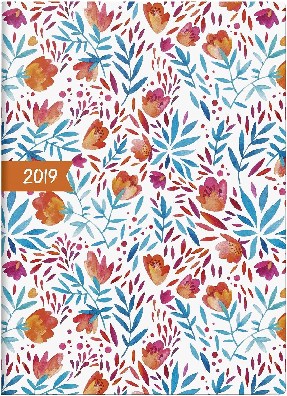 Brunnen Taschenkalender 2019 Flowers: Modell 731 15 Baier & Schneider 107311504 Buchkalender Kalender / Buchkalender