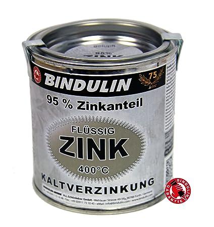 Líquido de zinc 250 ml caja de Bindulin para frío galvanizado con altas metálicas de cinc ...