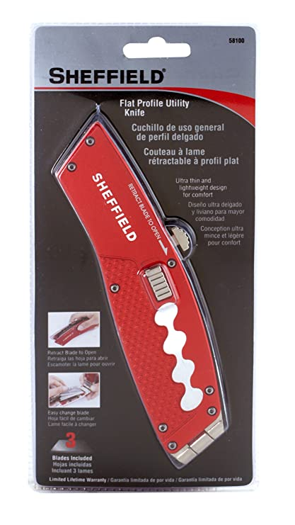 Sheffield 58100 Flat Profile Retractable Utility Knife ...
