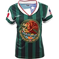 ae7a82e63a2 Mexico and USA Jersey Arza Design for Women_V Neck 100% Polyester Made in  Mexico