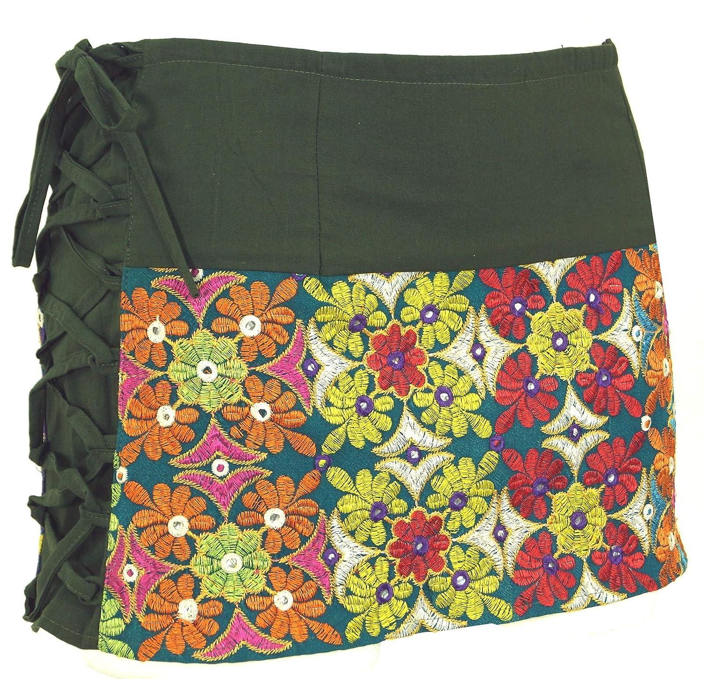 Cotone Cacheur Gonna a Portafoglio Sidebag Guru-Shop Gonne Corte