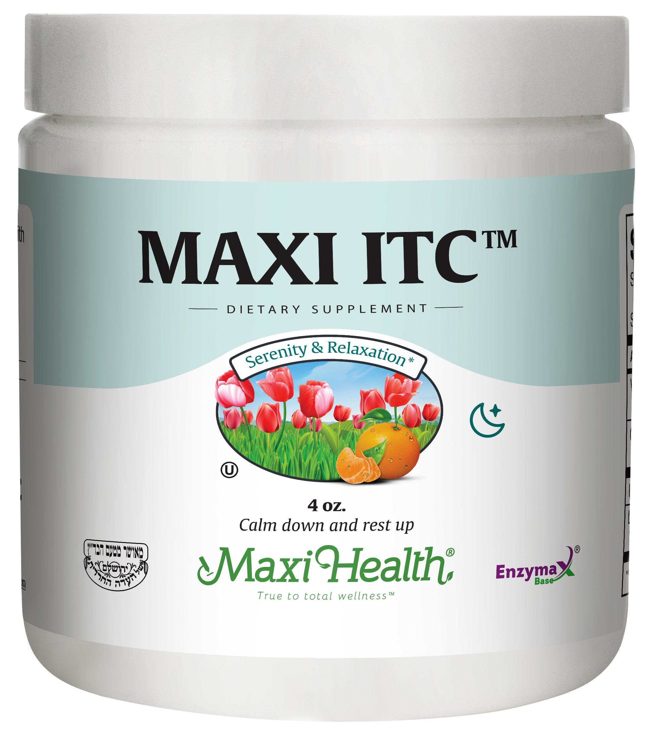 Maxi Health ITC - Inositol - with Taurine and Vitamin C - Calming Formula - 4 Ounce Powder - Kosher